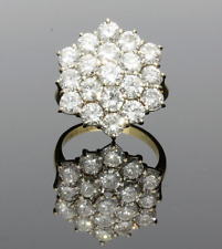 VINTAGE 18CT YELLOW GOLD DIAMOND CLUSTER RING  - 1988