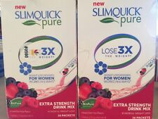 2-Slimquick Pure Extra Strength Drink Mix Women's Weight Loss 26 Packets