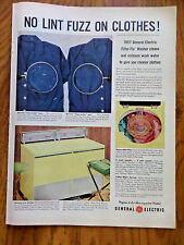 1957 GE General Electric Wash Dryer Ad  Filter-Flo Washer