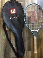 "Wilson Venus Serena Tennis Racket 3 7/8"" LOO Titanium W/ Wilson Racquet Case"