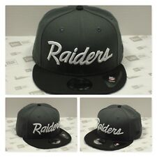 Oakland RAIDERS Custom Wordscript Snapback (Grey/Black)