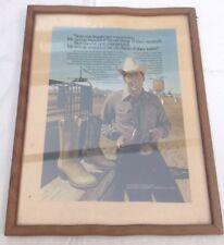 Vintage Publicité Western Cowboy Bottes DAN POST