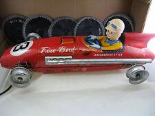 TOMIYAMA 1950's FIRE BIRD  RACE CAR MADE IN JAPAN  TIN ORIGINAL BOX
