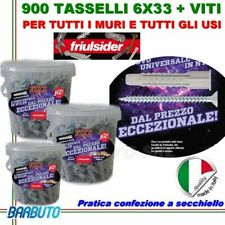900 TASSELLI UNIVERSALI FRIULSIDER FIXY IN NYLON 6X33mm + VITE E CON SECCHIELLO