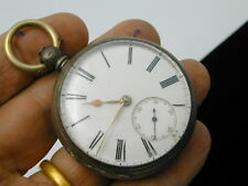 VINTAGE 1870S FUSEE JOHN STEWART KILMARMOCK SILVER POCKET AT 50 MM