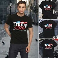 Men's Donald Trump 2020 MAKE LIBERALS CRY AGAIN Letter Printed Funny T-Shirt