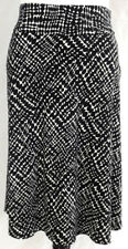 Kenneth Cole Reaction Womens Skirt Size Small Black White Flare Geo Polka Dot
