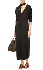 Nwt Equipment Mary Ann Cashmere long Sweater Dress, Charcoal Size Xs $498