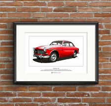 VOLVO Amazon 122S limited edition FINE ART PRINT A3 TAILLE