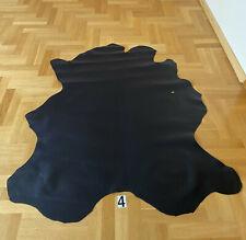 Black Aniline Calf Skin Leather Smooth Grain 1mm B Selection European Origin