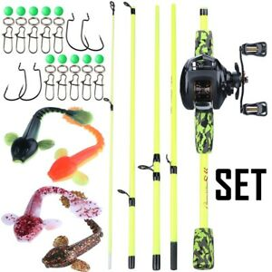 1.7m Fishing Rod Reel Combos Casting Fishing 5 Sections 13bb Bait casting Reel