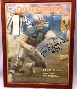 Dallas Cowboys Official Weekly Autographed Cover  Aug 31, 1985, with Randy White