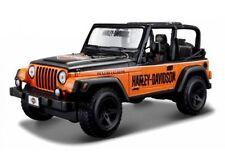 Harley Davidson Personnalisée, Jeep Wrangler Rubicon orange/noir, Maisto 1:27