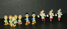 Lot of 10 Duck Tales Disney Kellogg PVC Figures - Scrooge McDuck Gizmoduck Louie