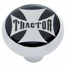 "UNITED PACIFIC 23166 - ""Tractor"" Deluxe  Air Valve Knob - Black Maltese Cross St"