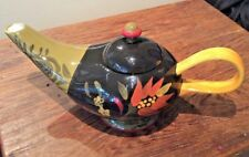 222 FIFTH FOLKLORICA RARE GENIE / ALLADIN STYLE TEAPOT VIVID COLORS GORGEOUS!
