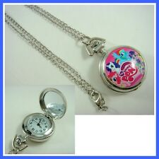 My Little Pony Women Girl Boy Pocket Watch Necklace FREE SHIP + GIFT