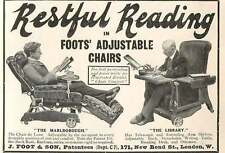 1905 Restful Reading In Foots' Adjustable Chairs Library Marlborough J Foot