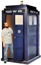 "Doctor Who 3D Tardis Life Size 55"" x 108"" Police Box Licensed BBC Syfy"