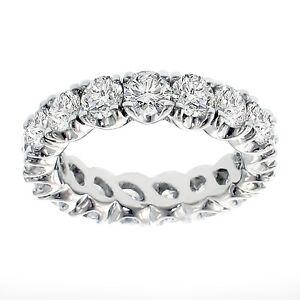 3.65 CT Brilliant Cut Diamond Eternity Ring in Split Prong Platinum Setting