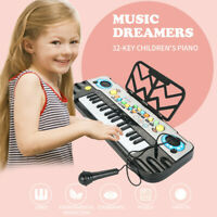 32 Keys Multifunction Electronic Piano Kids Child Keyboard Music With Microphone