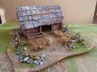 old barn  28mm wargames made to order  acw awi muskets and tomahewks