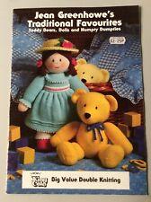 Jean Greenhowe's Knitting patterns Teddy Bears Dolls & Humpty Dumpties
