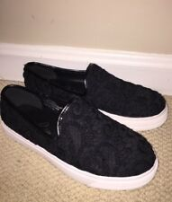Spoon Society Slip On Black Lace Sneakers 7