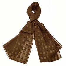 Sciarpe, foulard e scialli da donna tinta unita marrone
