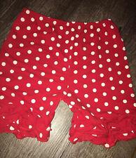 Girls Sz 7 8 Red Polkadot Ruffle Boutique Shorts Guc