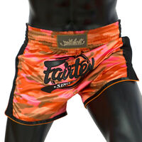 Fairtex BS1711 Red Camo Slim Cut Muay Thai Short Boxing Kickboxing Striking MMA