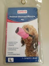 """Petco Animal-themed Dog Muzzle Pig Size Large 7-7.5"""", New in Package"""