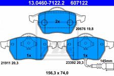 Bremsbelagsatz, Scheibenbremse für Bremsanlage Vorderachse ATE 13.0460-7122.2