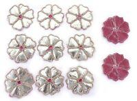Decorative Indian Applique Zari Appliques Floral Shape Supplies Craft 5 Pair Set