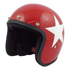 Casco Helmet Jet Bandit Red Rosso Stella Star Bianca White Moto Biker Tg. M