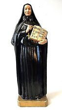 Antique 1939 Saint Francis Xavier Cabrini Chalkware Religious Statue