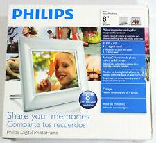 Philips 8FF2FPB 8-Inch 4x3 Digital Photo Frame 800x600 Resolution - White