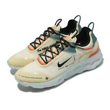 Nike reaccionar Live Leche de Coco Negro Naranja Hombre Casual Zapatos de Estilo de vida DJ5206-103