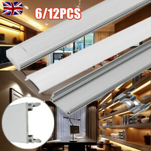6/12 1M LED Aluminum Channel Profile Extrusion Track f/ Strip Lights Milky Clear