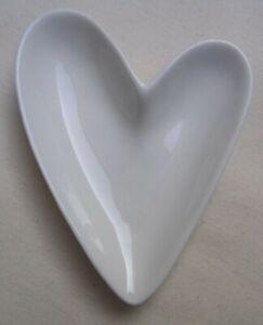Stylish Porcelain Heart Dish Dips Jewellery Dish Ring Dish Tableware FREE POST