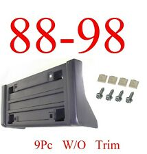 9PC 88 98 w/o Trim Chevy & GMC, Front License Plate Bracket W Hardware, Truck