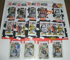 Lego Star Wars-série 2 Trading Cards tous les 4 différents Blister