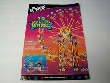 KNEX INSTRUCTION MANUAL ONLY #15116 - 3 Feet Tall Ferris Wheel Instructions Book