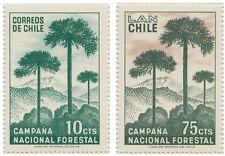 Chile 1967 #708-709 Campaña Nacional Forestal MNH