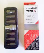 YATO YT-0412 HEX. JUEGO BROCAS DE DESTORNILLADOR 7 pzas 1.3cm 10 mm 4M 5M 6M 8M