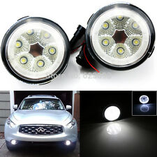18W High Power 6-LED Fog Light Lamps Assy w/ LED Halo Rings Fit Nissan Infiniti