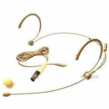 Microdot 4016 Headset Microphone For SHURE Wireless Transmitter Detachable Cable