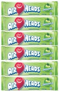 6x Air Heads Green Apple Flavor 16g Chewy Candy American Sweets - New