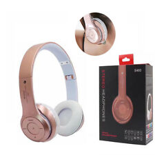 UK Wireless Bluetooth 4.0 Over-Ear Headphones Foldable Stereo Headset Rose Gold