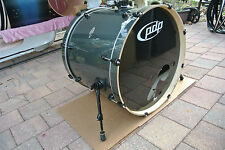 "ADD this PDP by DW 22"" DOUBLE DRIVE GRAY METAL BASS DRUM to YOUR DRUM SET! #T409"